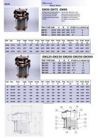 Documentation sur le filtre d'eau de mer ANCOR.
